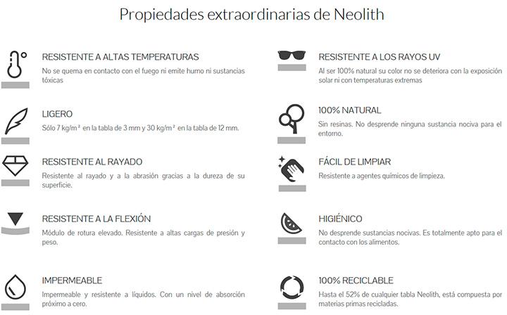 Propiedades Neolith