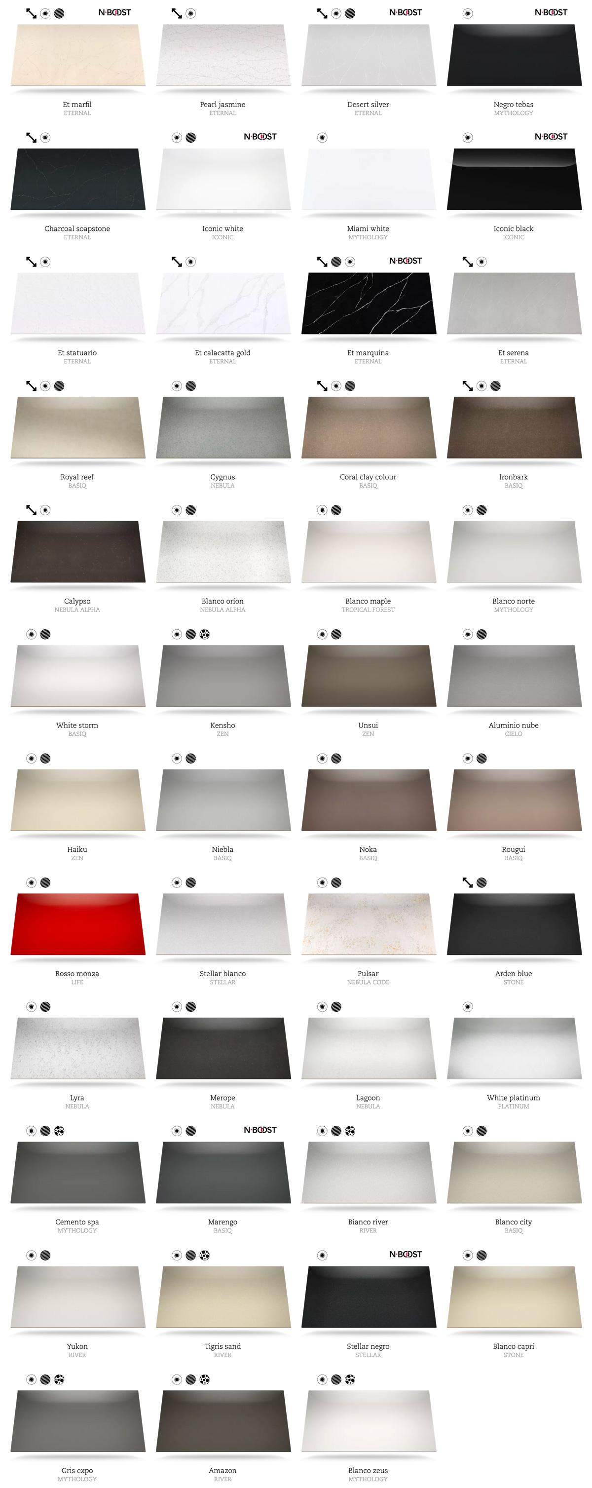 Catálogo de colores Silestone